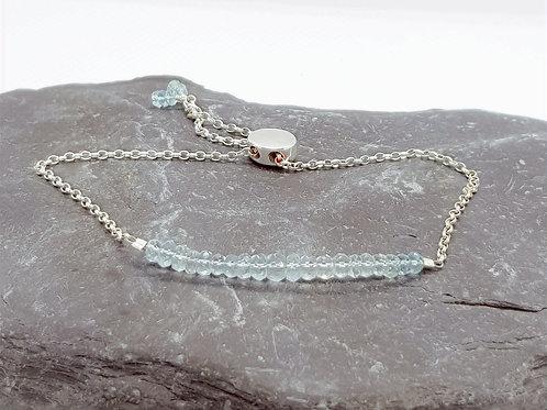 Sterling Silver Sky Blue Topaz Bracelet