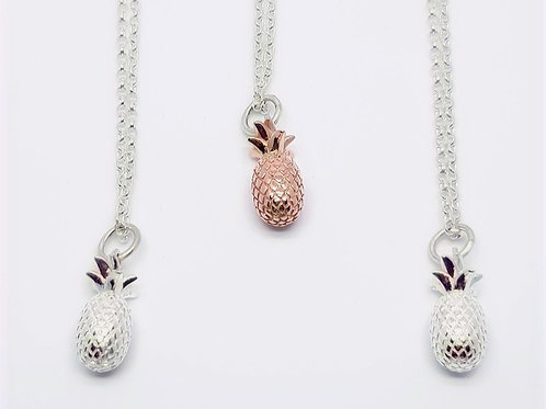 Sterling Silver Pineapple Necklace Totally Tropical