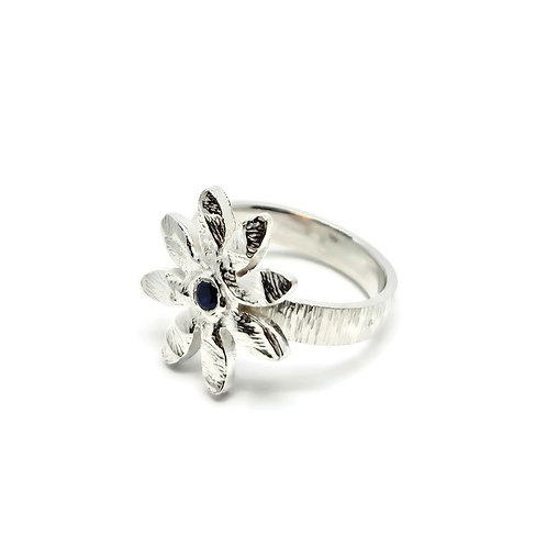 Sterling Silver Textured Daisy Ring One and Only