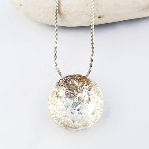 Reticulation Series Circle Pendant and Chain