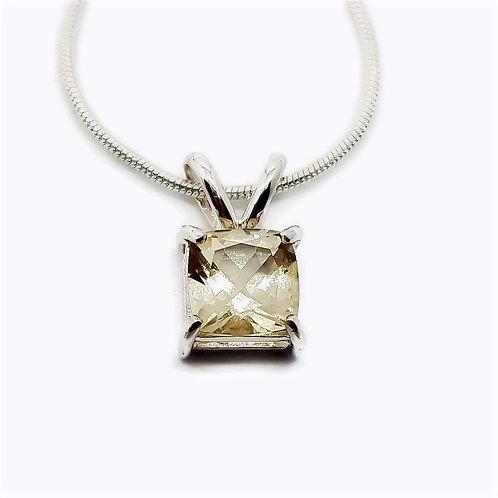 Sterling Silver Serenite Gemstone Pendant and Chain