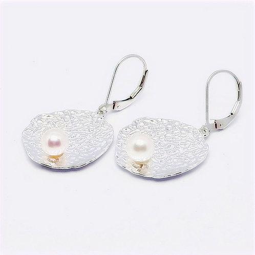 Sterling Silver Pear Earrings