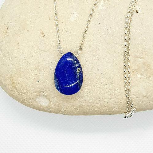 Lapis Lazuli Necklace Naked Gemstone Series