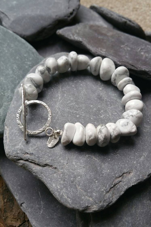 White Pebble Bracelet