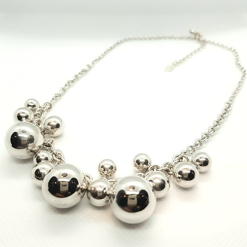 Sterling Silver Bubble Bead Necklace Simplicity Series