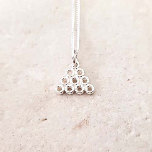Triangular Sterling silver Necklace Teeny Weeny Series
