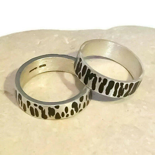 Unisex Sterling Silver Band Ring