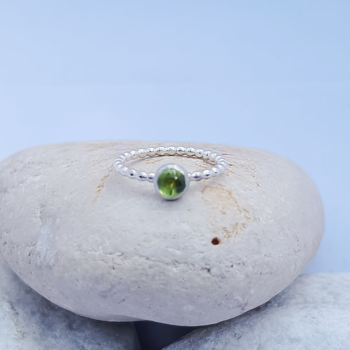 Candy Girl Series Peridot Gemstone Stacker Ring