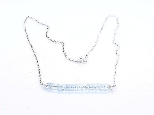 Sterling Silver Sky Blue Topaz Necklace