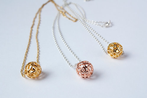 Filligree Ball Necklace