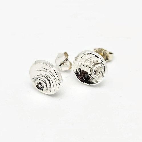Sterling Silver Swirl Stud Earrings