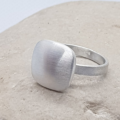 Sterling Silver Contemporary Satin Finish Square Ring