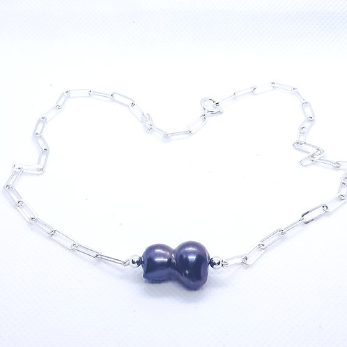 Freshwater Cultured Peacock Baroque Pearl Necklace