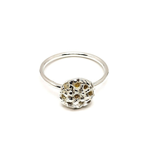 Sterling Silver and Cubic Zirconia Stacker Ring Skinni Minni