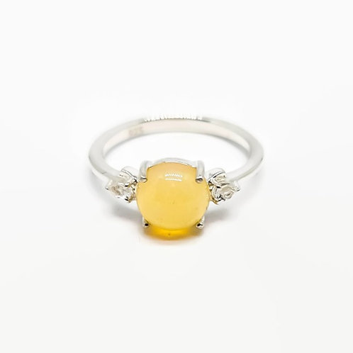 Sterling Silver Ethiopian Opal Solitaire Ring