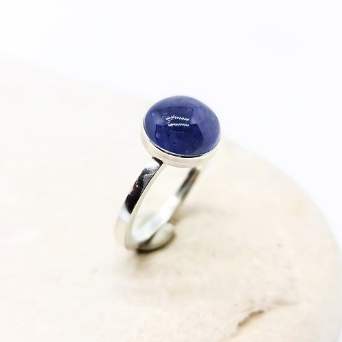 Sterling Silver Iolite Gemstone Solitaire Ring