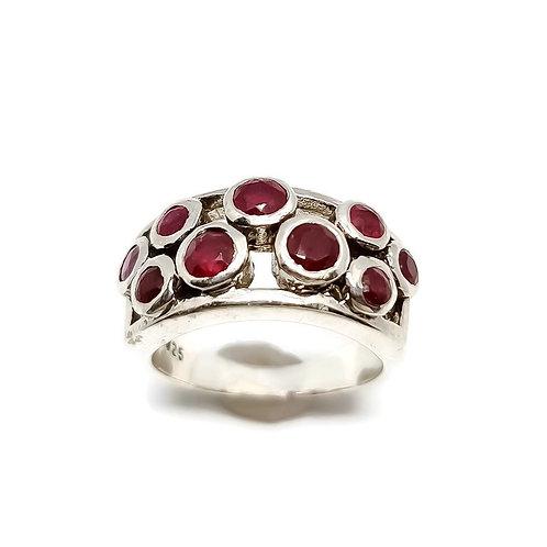Sterling Silver Bezel Set Ruby Ring