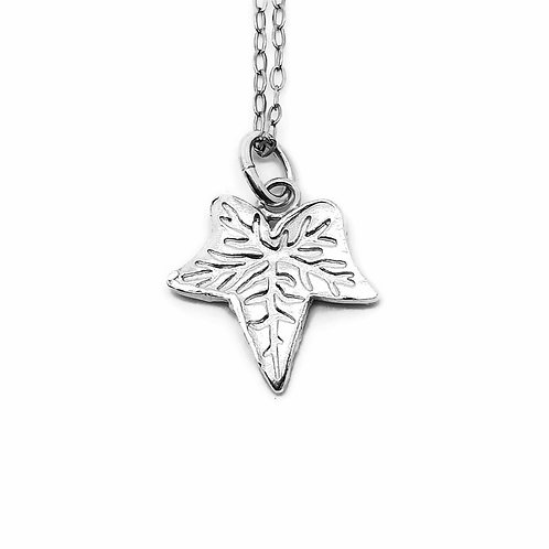 Sterling and Fine Silver Ivy Leaf Shaped Necklace