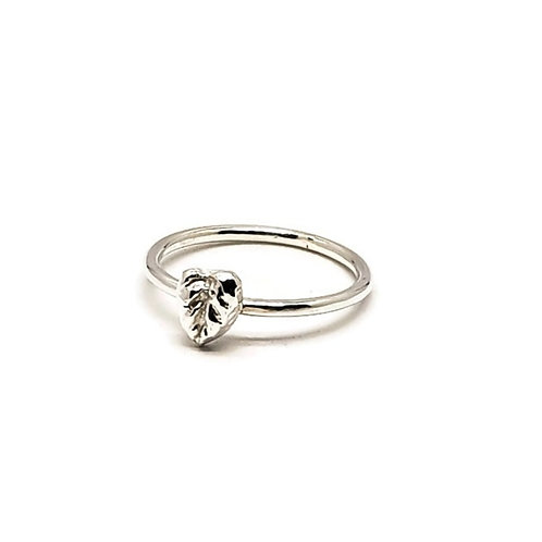 Sterling Silver Leaf Shaped Stacker ring Skinni Minni Series