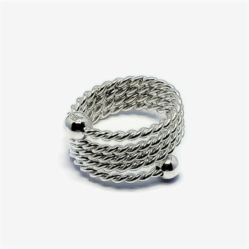 Sterling Silver Wrap  Round Ring Simplicity Series