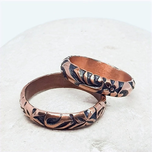 Copper  Unisex Tribal Ring