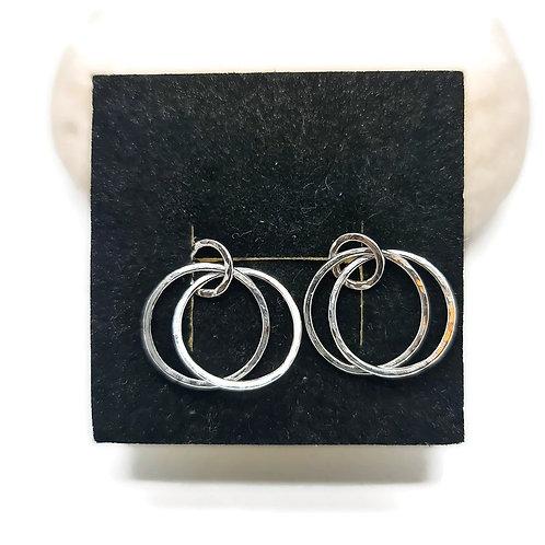 Sterling Silver Trilogy Earrings Simplicity Series