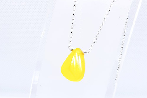 Sterling Silver Yellow Onyx Solitaire Naked Gemstone Series
