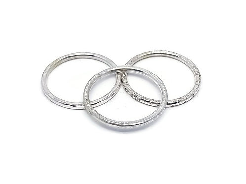 Sterling Silver Skinni Minni Stacker Band Rings