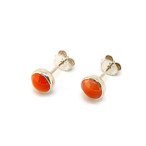 Sterling Silver Candy Girl Series Coral Stud Earrings