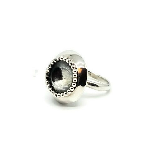 Sterling Silver Statement Dimple Ring