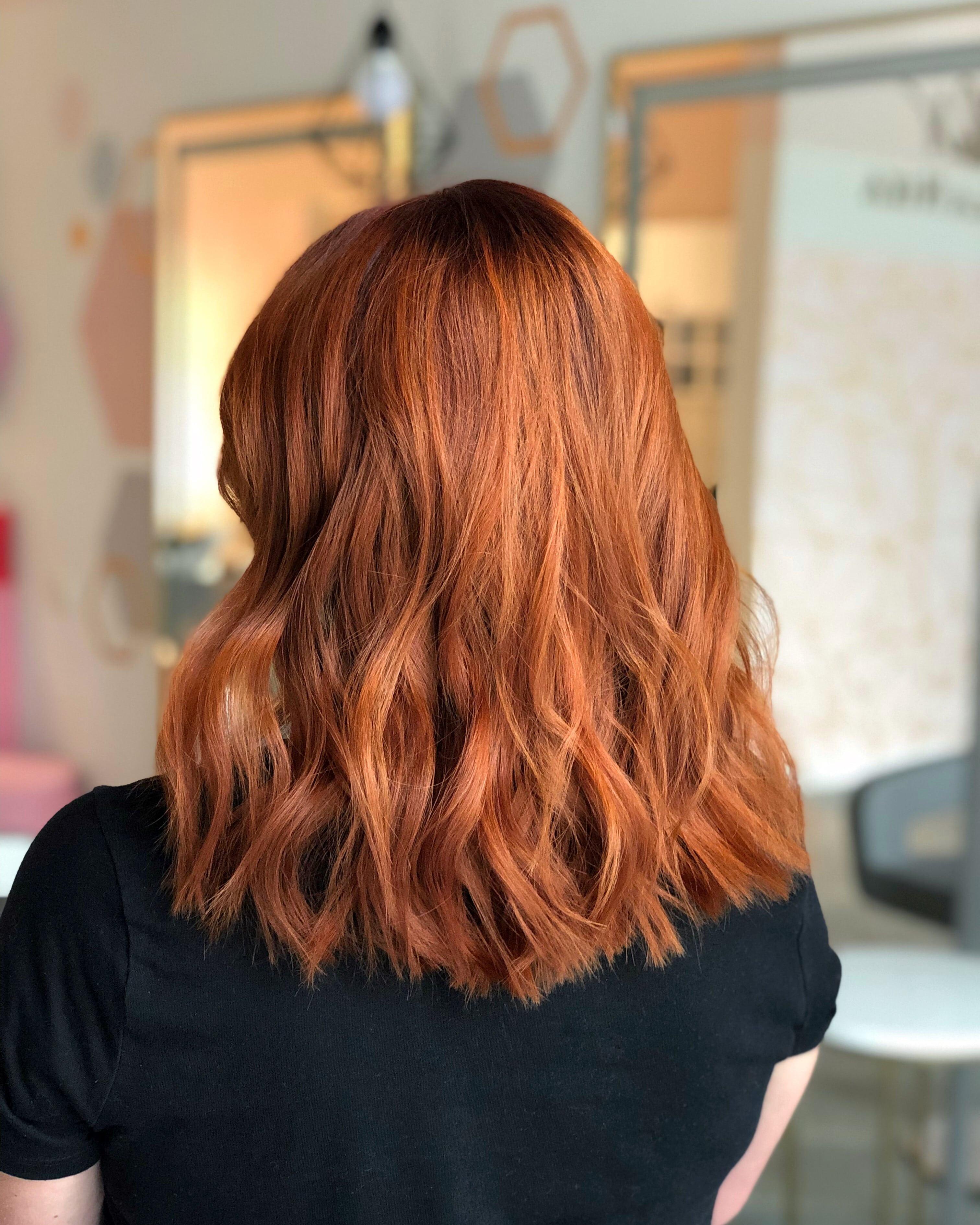 Окрашивание волос средней длинны