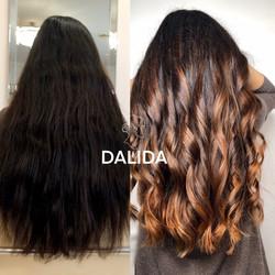 натуральное окрашивание волос airtouch
