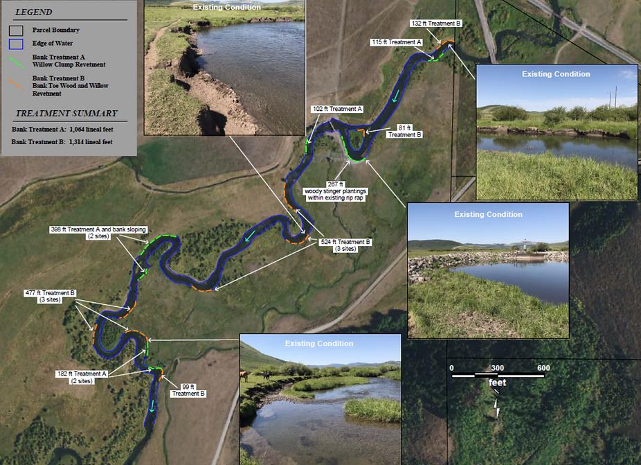 Allen Streambank Restoration aerial phot