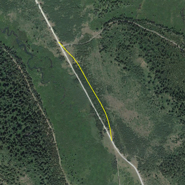 Diamond Creek Road Relocation Aerial --
