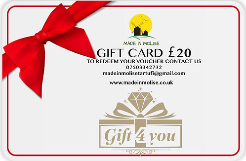 MADE IN MOLISE - GIFT VOUCHERS