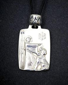 St. Bernard Medal with Snow Bead