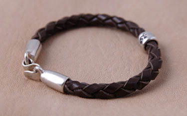 Braided Leather: Choose One Bead