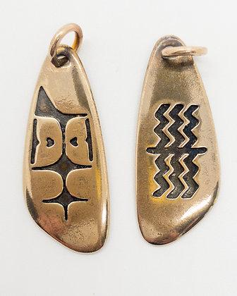 Kayaker Amulet Bronze