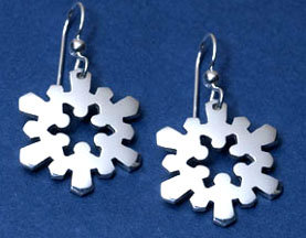 """""""Holding Hands"""" Snow Crystal Earrings"""