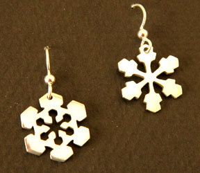 Snow Crystal Earrings