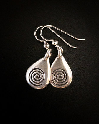 Water Spiral Earrings