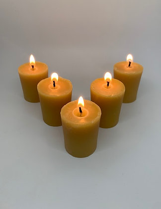 5 Beeswax Votive Candles