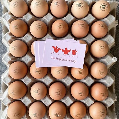 The Happy Hens Eggs - Free Range Eggs (dozen)