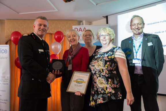 Alison Carter receiving award on behalf of DAA Faversham
