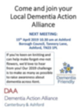 Come and join your Local Dementia Action