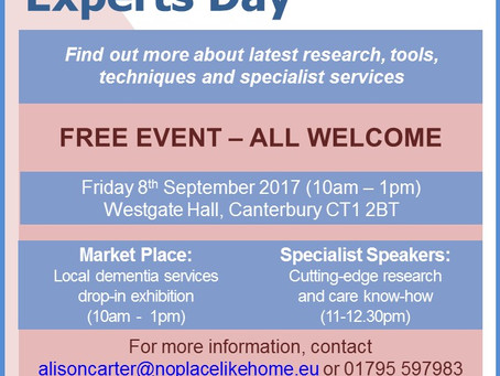 Join us for a FREE event! Dementia: Ask the Experts Day