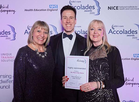 Highly Commended at Skills for Care Accolades Award