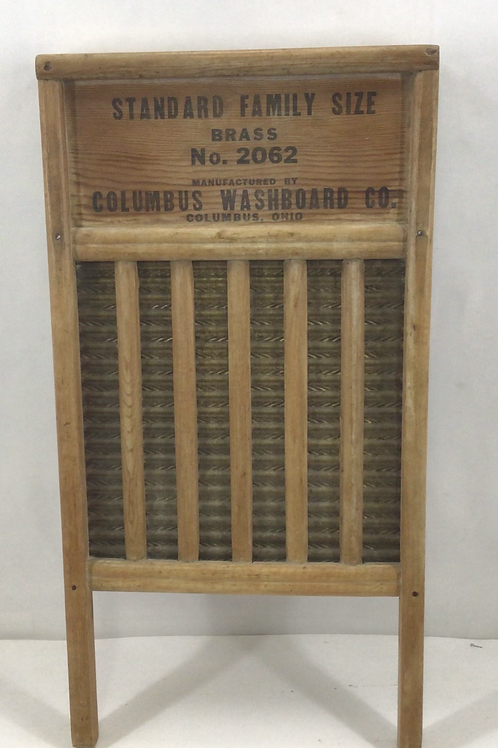 Brass Washboard  Manufactured by Columbus Washboard Co,