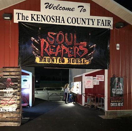 Soul Reapers Haunted House Entrance Ticket Window Kenosha County Fairgrounds Wilmot, WI
