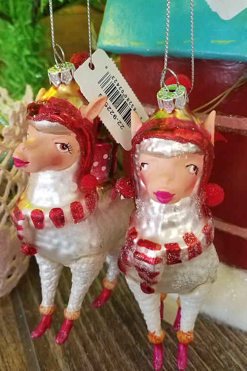 Katherine's Collection Kissing Llama Ornament